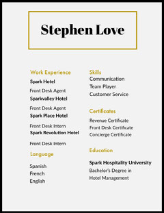 Grey Stephen Love Resume Grey