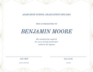Black and WHite Graduation Certificate Diplomi