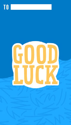Blue & Yellow Good Luck Gift Tag Gift Card