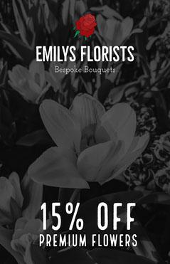 Emilys Florist Poster Discount