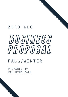 Black and White Business Proposal  Winter