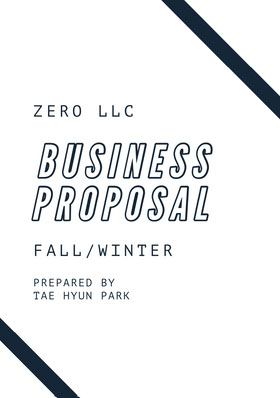 Black and White Business Proposal  提案書