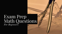 Black and beige Math Prep Youtube Thumbnail Quiz Night Poster