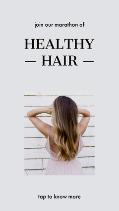 White and Brown Hair Care Instagram Story with Woman Hair Salon