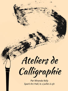calligraphy workshop event poster Affiche