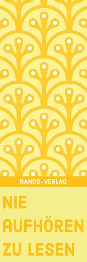 yellow patterned bookmarks Lesezeichen