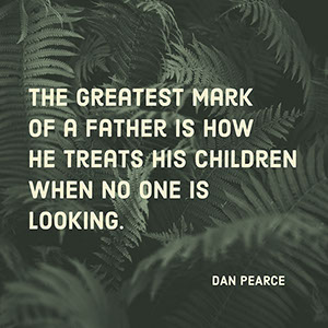 Black and White Fathers Day Quote Instagram Post Father's Day Messages