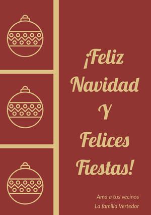 ¡Feliz Navidad <BR>Y<BR>Felices Fiestas! Tarjeta de Navidad