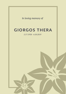 Giorgos Thera Programa funerario