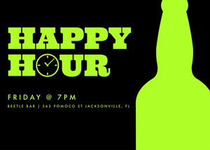 Black Happy Hour Invitation Happy Hour Invitations