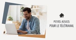 Blue and Orange Great Tips for Remote Work LinkedIn Post Bannière LinkedIn