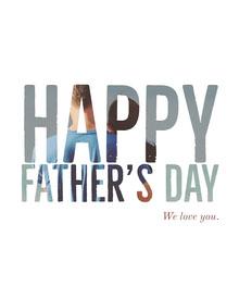 White Minimal Fathers Day Card Tarjetas para el Día del Padre