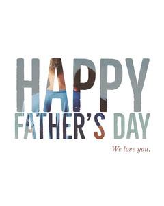 White Minimal Fathers Day Card Seasonal