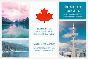 fly to Canada travel brochures  Folheto dobrável