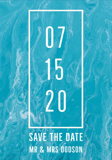 Blue and White Save The Date Card Partecipazioni di matrimonio