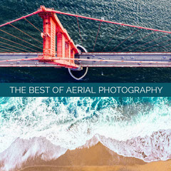 Aerial Photography Collage Instagram Square Beach