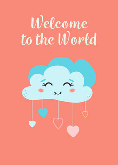 New Baby -  Occasion Card 5x7 Welcome Poster