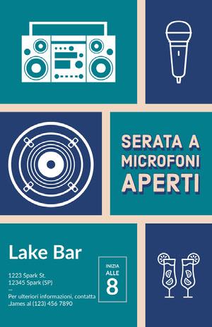 open mic night poster Locandina