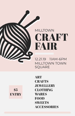 craft fair poster Food Flyer