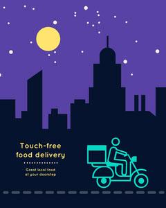 touch-free delivery instagram portrait  Restaurants