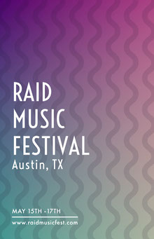 Music Festival Poster with Wave Pattern Poster
