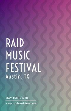 Music Festival Poster with Wave Pattern Wave