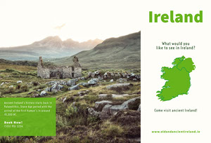 Green Ireland Travel and Tourism Brochure Travel Brochure