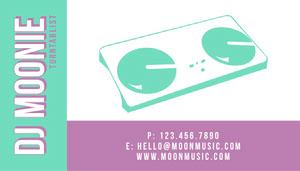 Blue Color-Blocked DJ Business Card Business Card