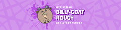 Purple Texture Goat Twitch Banner Stream