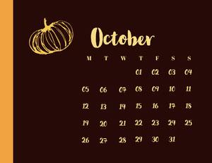 October Calendrier