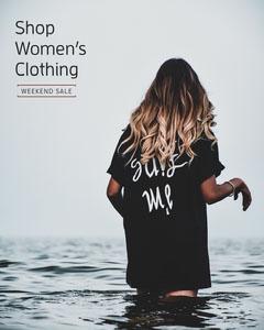women clothing instagram portrait  Water