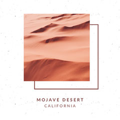 White and Beige Minimalistic Travel Ad Instagram Post Desert