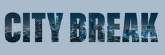 Blue City Skyline Banner  Vacation