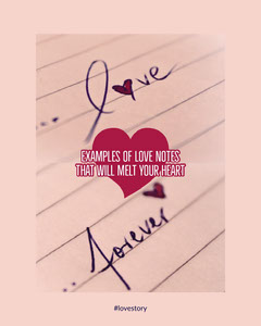Pink Love Note Example Instagram Portrait Graphic with Heart Love