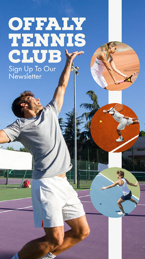 Blue Sky Offaly Tennis Club Focused Athlete IG Story Sports Collage