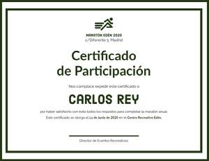 Carlos Rey Certificado