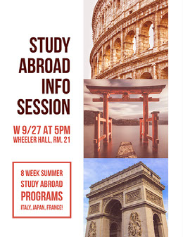 Study Abroad Info Session Flyer
