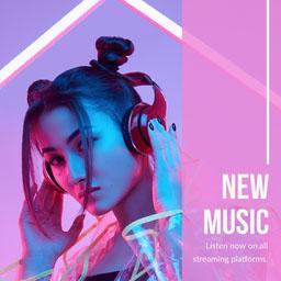 Pink Purple White New Music Listen Now Instagram Square
