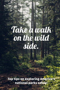 Take a walk on the wild side. Nature
