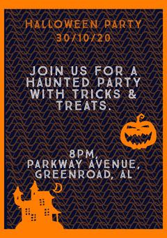 Halloween Haunted Party Invitation Halloween Party Invitation