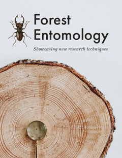 Forest Entomology and Biology Book Cover with Tree and Insect Forest
