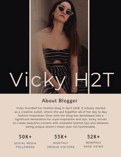 Vicky H2T Social Media Flyer