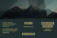 mountain adventure brochure  Adventure