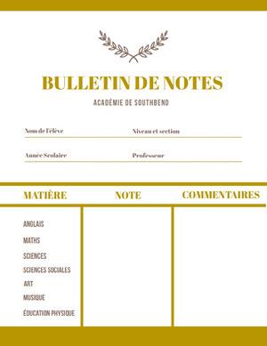 academic academy report cards Bulletin de notes