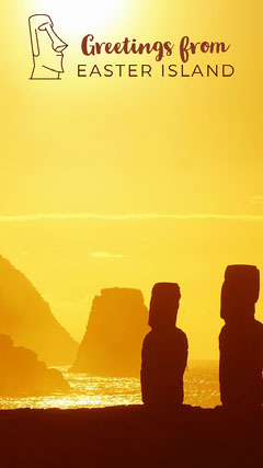 Yellow and Brown Easter Island Snapchat Easter