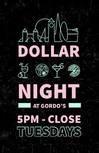 Black and Pink Dollar Night Poster 포스터