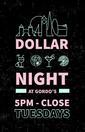 Black and Pink Dollar Night Poster Happy Hour Invitations
