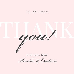 love lgbt wedding thank you card Thank You Card