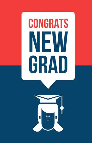 CONGRATS <BR>NEW<BR>GRAD Tarjeta de graduación