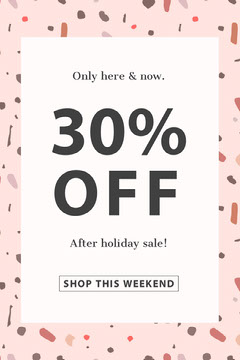 Pink Shop Sale Pinterest Ad with Pattern Holiday Sale